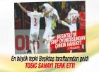 Beşiktaş taraftarından Tosic'e bayraklı protesto
